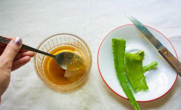 Сок алоэ и мед в лечении
