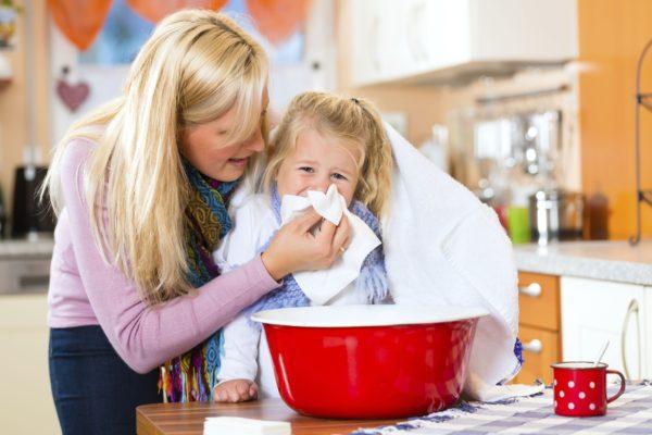 Традиционная ингаляция при простуде